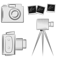 A set of cameras eps10 vector image