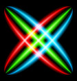 abstract rainbow ray in the shape of a star vector image