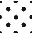 apple pattern seamless black vector image vector image