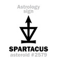 astrology asteroid spartacus vector image vector image