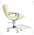Barber chair isolated on white background vector image vector image