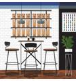 best coffee shop design vector image vector image