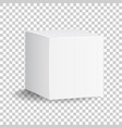 blank white carton 3d box icon box package mockup vector image vector image