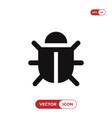 bug icon vector image vector image