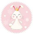 bunny girl cute princess vector image