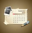Calendar September 2014 vector image vector image