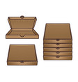 cardboard pizza boxes set objects vector image vector image