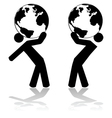 Carrying the planet vector image vector image