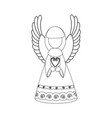 christmas angel coloring page vector image