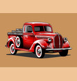 classic ford truck vector image vector image