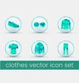 clothes icon set malachite vector image