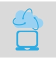 cloud technology laptop media icon vector image vector image