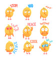 cute cartoon comic chickens characters with vector image vector image