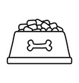 cute pet element cartoon vector image vector image