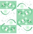 Cute seamless flower owl background pattern vector image vector image