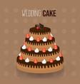 cute wedding cake design vector image vector image