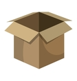 Delivery package box isolated icon vector image