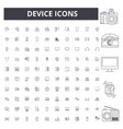 device line icons signs set outline vector image vector image