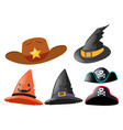 different design of hats vector image