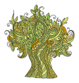 Doodle art colorful tree vector image vector image
