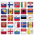 Europe Buttons Square Flags vector image vector image