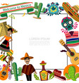 flat mexico travel template vector image vector image