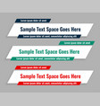 flat style lower third geometric banners vector image vector image