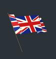 flat style waving uk flag vector image