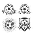 football old school logos vector image
