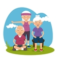 grandparents with sport clothes vector image vector image