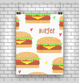 hamburger retro vector image