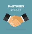 handshake of business partners best deal in flat vector image