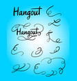 hangout swash and tail decoration hand writ vector image