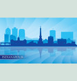 indianapolis city skyline silhouette background vector image vector image
