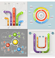 Infographic Arrows Circuit Business Marketing vector image vector image
