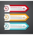 Infographic design arrow number options banner vector image vector image