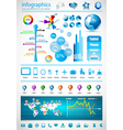 infographical icons vector image vector image