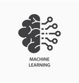 machine learning icon artificial intelligence vector image