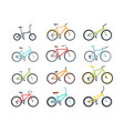 modern colorful bicycles flat vector image vector image