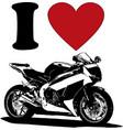 motorheart more motorbikers symbols vector image vector image