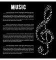 Music arts banner with treble clef and notes vector image vector image