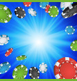 online casino winner background explosion poker vector image vector image