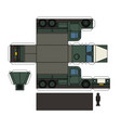 paper model of an old military truck vector image vector image