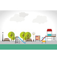 Park design over white background vector image vector image