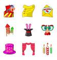 prank icons set cartoon style vector image vector image