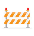 Road barrier barricade vector image