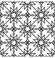 Seamless geometric monochrome pattern vector image vector image