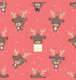 seamless pattern background with cute little vector image