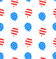 Seamless Texture Balloons for Independence Day vector image vector image