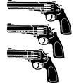 set of pistols stencil vector image vector image